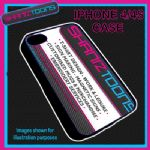FITS IPHONE 4 / 4S PHONE PLASTIC COVER YOUR OWN BUSINESS LOGO CARD PRINTED